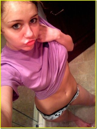 3. Miley Cyrus. there are no words. she is seventeen. the parents . the